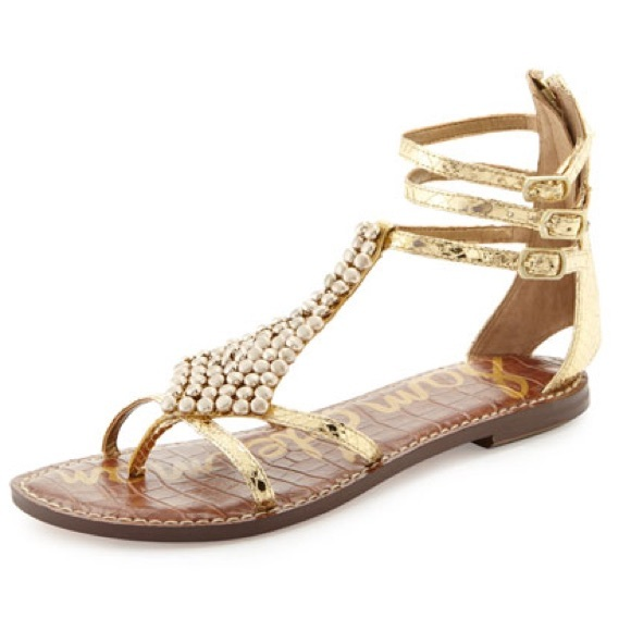 cc6bf2be7d6 Sam Edelman Ginger Gladiator Sandals in Gold Snake.  M 5aff6927739d48cb7def8602
